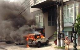 Thông tin về nguyên nhân vụ cháy ô tô trước trụ sở Công an phường Cửa Ông