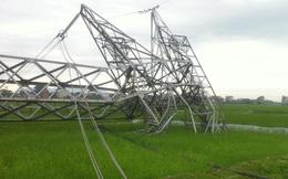 """Cột điện đường dây 500kV bị """"quật"""" đổ: Phần móng được múc lên ngay trong đêm"""