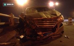 Ô tô tông nam thanh niên đi xe máy bay xuống chân cầu Thanh Trì
