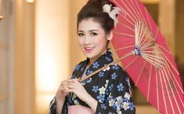 Á hậu Tú Anh điệu đà với kimono
