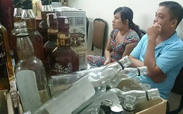 """Rượu Chivas giả: Vỏ """"đồng nát"""", ruột rượu Lào"""
