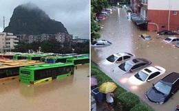 Chùm ảnh: Cảnh tượng lụt lội khủng khiếp ở Trung Quốc