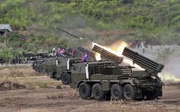 Sức mạnh pháo phản lực phóng loạt cực kỳ lợi hại của Campuchia