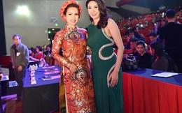 Hoa hậu Hà Kiều Anh diện váy 70 triệu đồng