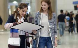 Chi Pu được đích thân Á hậu Hàn Quốc tiếp đón ở sân bay