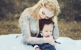 Vợ và con trai đẹp như thiên thần của ngoại binh Hải Phòng