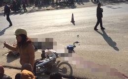 Bà đang chở cháu đi học thì bị xe tải đâm, cả 2 tử vong tại chỗ