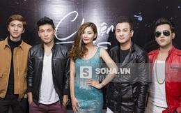 Dàn trai đẹp tới mừng Lưu Kỳ Hương ra mắt minishow