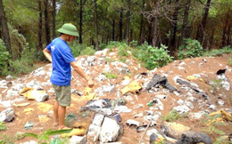 Di dời hơn 60 tấn rác có chữ Trung Quốc đổ trộm gần nguồn nước