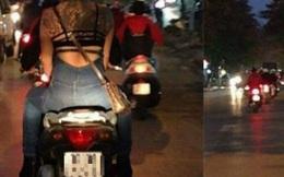 Phản cảm thiếu nữ xăm trổ 'mặc như không' trên phố Hà Nội