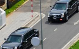 Hai chiếc xe chống đạn chở ông Obama đã đến TP.HCM