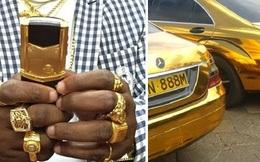 Phong cách xài vàng xa xỉ chẳng kém gì giới nhà giàu Dubai của vị đại gia châu Phi