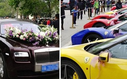 Đám cưới của công tử, tiểu thư nhà giàu với dàn siêu xe khủng