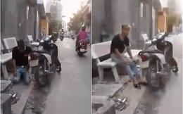 Cô gái bắt người yêu quỳ xin lỗi giữa đường rồi quay clip