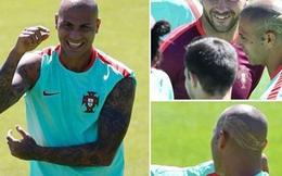 """Đá chung kết EURO, cầu thủ Bồ Đào Nha cạo đầu cực """"dị"""""""