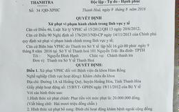Thanh Hóa: Bị xử phạt vì khám bệnh, cấp phát thuốc miễn phí