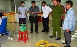 Đột kích xưởng sản xuất, phát hiện 70 kg tôm bơm tạp chất