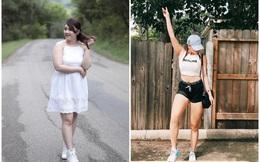 Giảm liền 13kg trong 5 tháng, cô gái vốn đã xinh đẹp này trở nên sexy không kém gì gái Âu Mỹ!