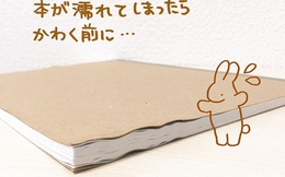 Người Nhật có tuyệt chiêu giúp sổ sách tập vở không bị cong vênh vì ướt cực nhanh và hiệu quả