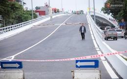 Chùm ảnh: Cầu vượt thép 135 tỷ trên con đường đắt đỏ nhất Thủ đô trước ngày thông xe