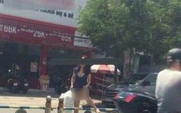"""""""Chị gái"""" hớ hênh tốc váy khi qua đường dù không mang nội y khiến dân tình sửng sốt"""
