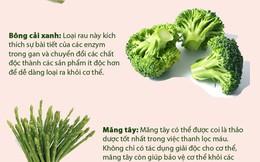 8 loại rau xanh giúp loại bỏ độc tố khỏi cơ thể rất hiệu quả