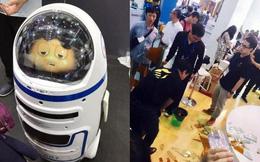 Lỗi kỹ thuật: Robot Trung Quốc đập vỡ kính, gây thương tích cho con người