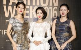 Hoa hậu Đỗ Mỹ Linh đọ sắc 2 chị em Á hậu Ngô Thanh Tú