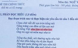 Bộ GD&ĐT lên tiếng về câu thơ gây tranh cãi trong đề thi Văn 2016