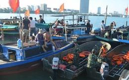Nối lại hoạt động tìm kiếm nạn nhân vụ lật tàu trên sông Hàn