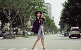 Miko Lan Trinh khoe eo thon, chân nuột nà trên phố