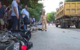 Trên đường đi làm về, 2 công nhân bị xe tải đâm tử vong
