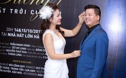 Nhan sắc vợ ca sĩ Đăng Dương gây chú ý trong họp báo của chồng