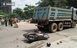 TP HCM: Chở con đi học, người phụ nữ bị xe ben cán tử vong
