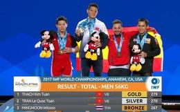 Lực sĩ Thạch Kim Tuấn giành hat-trick HCV lịch sử ở giải thế giới