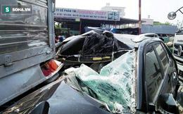 TP.HCM: Va chạm liên hoàn, cặp vợ chồng già mắc kẹt kêu cứu trong xe ô tô