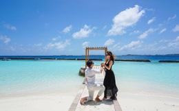 """Hường Chuối – Hotmom 9x cùng bạn trai giấu mặt ngao du """"Thiên đường Maldives"""" hết 85 triệu"""