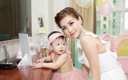 Chồng đại gia vắng mặt, Diễm Trang tự tay tổ chức sinh nhật cho con gái