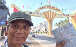 """76 ngày đi bộ từ Bắc vào Nam, ông cụ 65 tuổi vẫn """"giá mà dài thêm vài trăm km nữa"""""""
