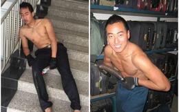 Sự thật phía sau bức hình nam thanh niên ngủ gục bên cầu thang gây xúc động