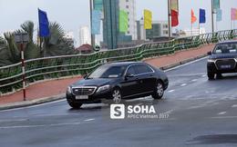 Đoàn xe phục vụ tổng thống Hàn Quốc Moon Jae In tại APEC lăn bánh trên phố Đà Nẵng