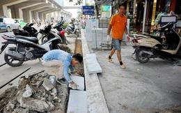 """PGĐ Sở Xây dựng Hà Nội: Nhiều quận huyện hiểu sai chỉ đạo, """"ồ ạt"""" lát đá cho vỉa hè"""