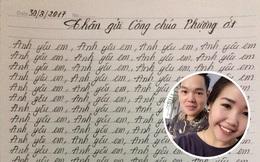 """Ngủ quên không chúc mừng sinh nhật bạn gái, chàng trai bị phạt viết 1000 lần câu """"Anh yêu em"""""""
