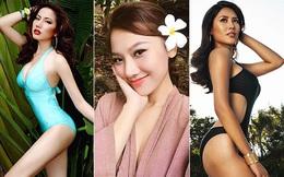 Vẻ đẹp nóng bỏng của 3 mỹ nhân đi thi nhan sắc quốc tế nhiều nhất showbiz Việt