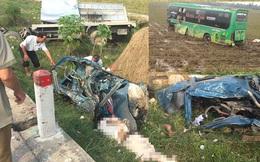 Tài xế xe tải tử vong tại chỗ, nhiều người bị thương sau cú đối đầu với xe khách