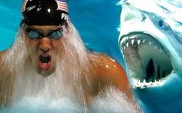 Siêu kình ngư Michael Phelps đua với cá mập trắng: Kẻ 8 lạng người nửa cân, ai thắng?
