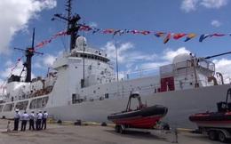 Ấn tượng quân sự Việt Nam tuần qua: Pháo Otobreda trên tàu CSB 8020