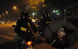 Hai thanh niên đầu trần, chạy xe ngược chiều tông gãy chân cảnh sát cơ động