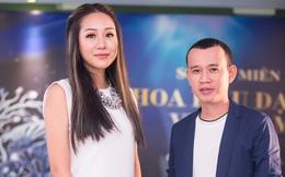 """Vẻ ngoài khác lạ của Hoa hậu Ngô Phương Lan khi làm giám khảo cùng """"ông bầu"""" Phúc Nguyễn"""