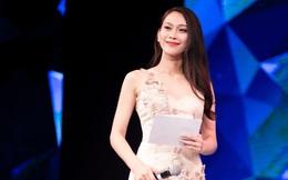 Á hậu Hoa hậu Đại dương Vân Quỳnh thu hút sự chú ý khi làm MC